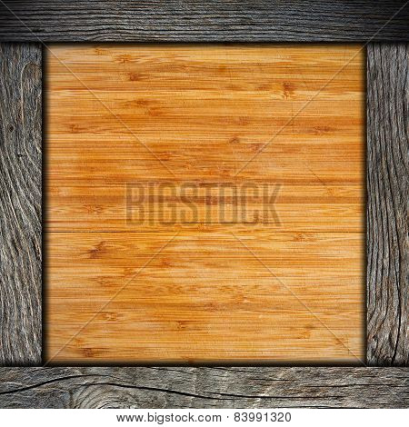 Wood Frame With Cutting Board