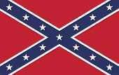 The battle flag of the Army of Tennessee. Also known as the Confederate Rebel Flag used during the American Civil War. poster
