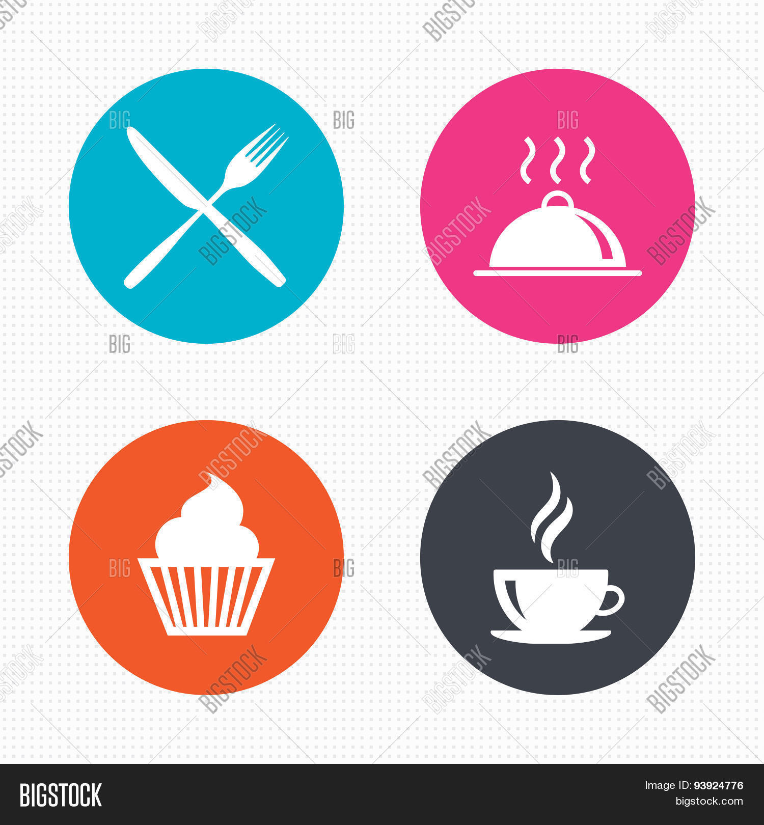 Food Icons Muffin Vector Photo Free Trial Bigstock