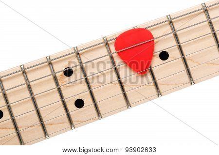 Empty Wooden Maple Fingerboard