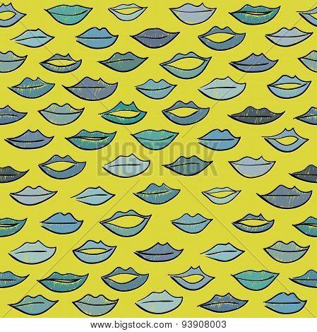 Kiss pattern.