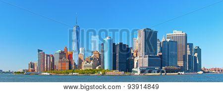 New York City lower Manhattan financial wall street district