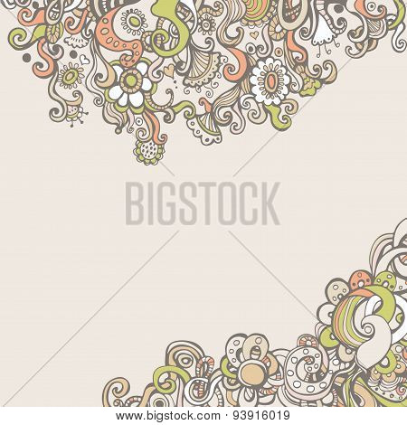 Greeting card with flowers and space for text