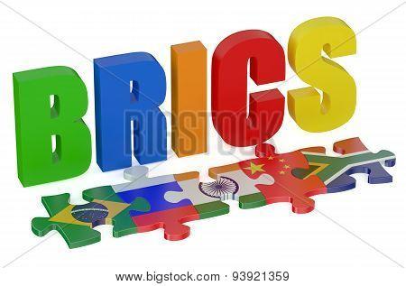 Brics Concept With Puzzle