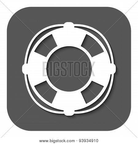 The Lifebuoy Icon. Lifebelt Symbol. Flat