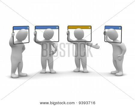 Internet videoconference concept