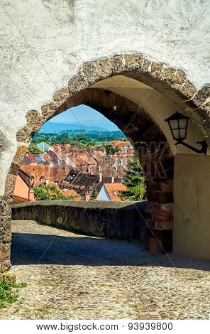 View Through The Gate From Hagenbach Tower