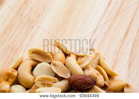 Nut Wooden Background