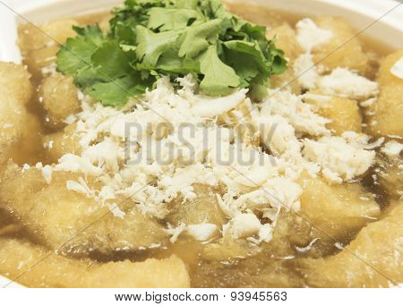Fish Maw In Chicken Broth  / Food