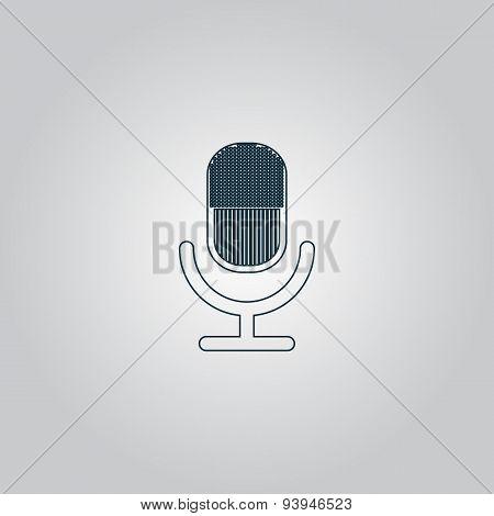 retro microphone icon