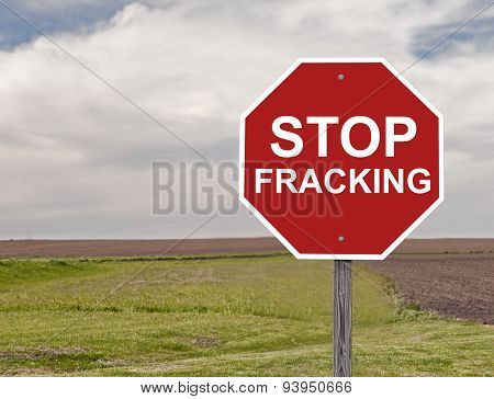 Stop Fracking Sign