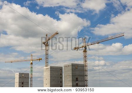 Construction site - sunny sumer day, Poland, Europe.