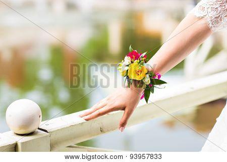 floral bracelet for the bride