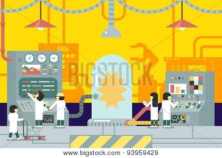 scientific laboratory experiments experience scientists work in front of control panel analysis prod
