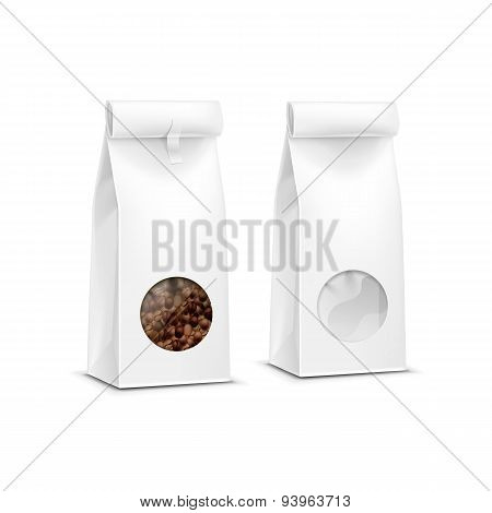 Vector Coffee Packaging Package Bag Isolated