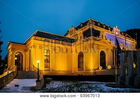 Night View On Casino In Baden Bei Wien