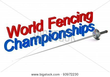 World Fencing Championships Concept