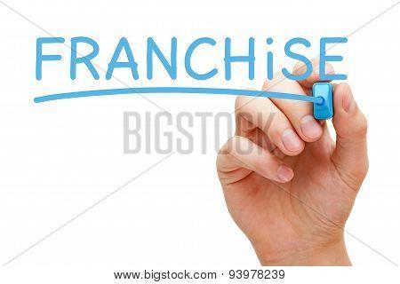 Franchise Blue Marker