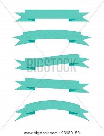 Green textured ribbons
