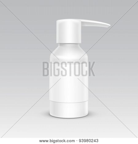 Spray Bottle White Plastic Packaging Container Set