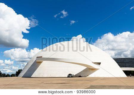 BRASILIA, BRAZIL - CIRCA MARCH 2015: National Museum in Brasilia city, Brazil