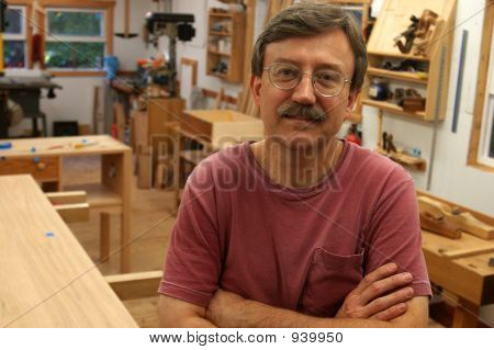 Woodworker In Shop 1A