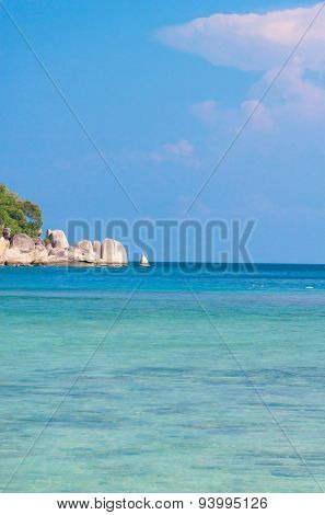 Oblivion Waters On a Sunny Beach