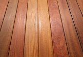Ipe teak wood decking deck pattern tropical wood texture background poster