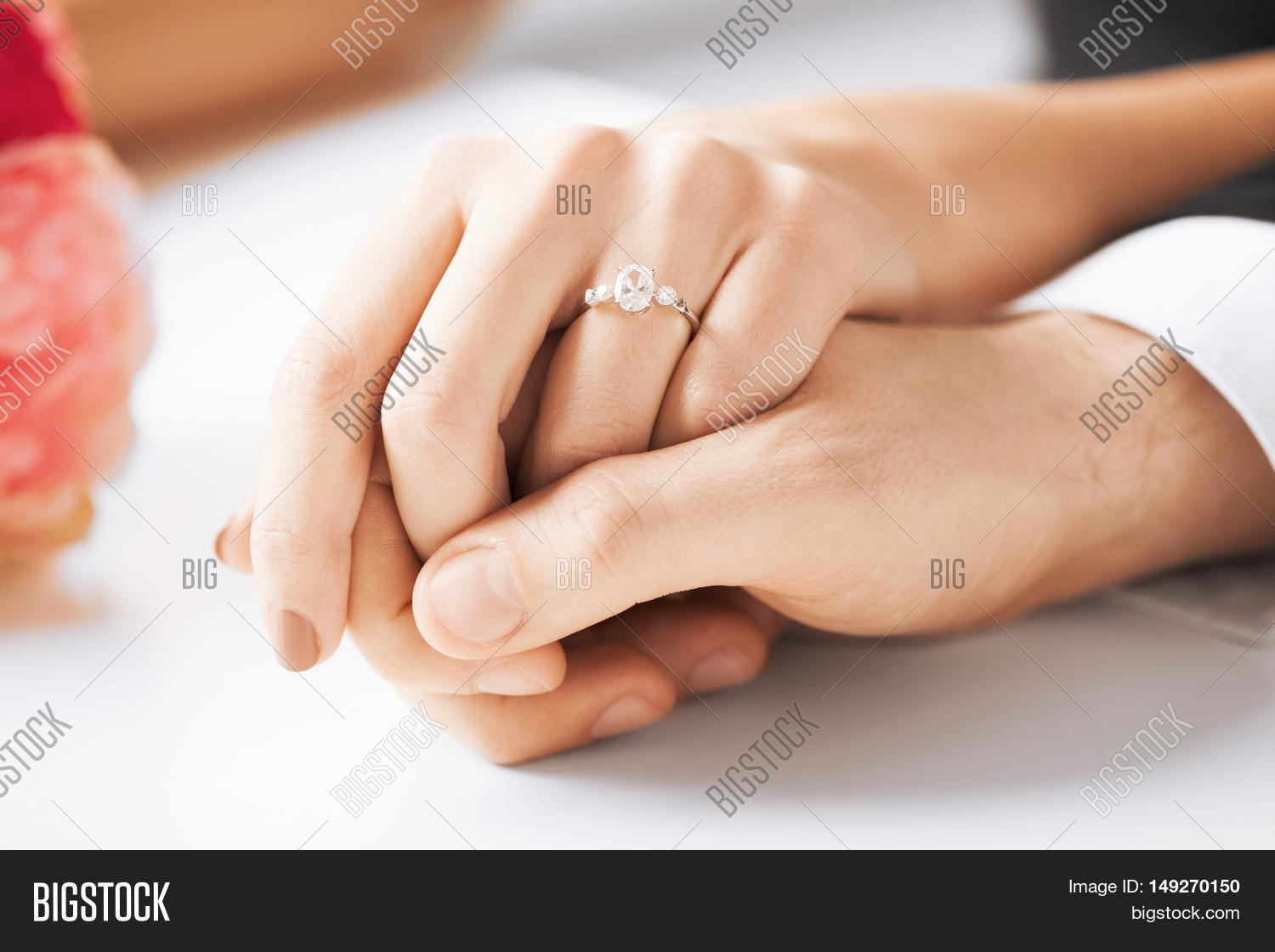Picture Man Woman Holding Hands Image Photo Bigstock