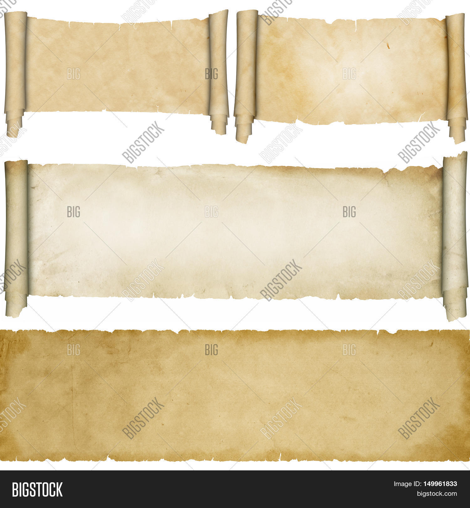 Antique Scroll Paper: Antique Scroll Image & Photo (Free Trial)