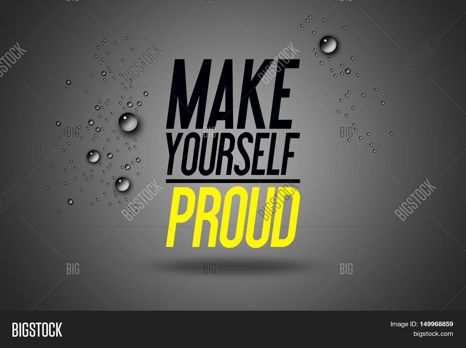 Images 70 Awesome Inspirational Typography Quotes: Make Yourself Proud - Advertising Image & Photo