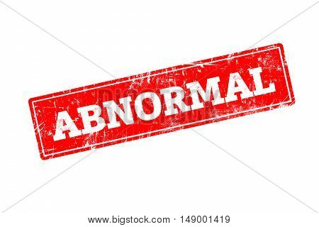 ABNORMAL word written on red rubber stamp with grunge edges.