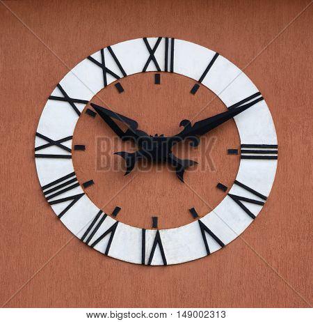 Clockface face clock time roman numeral tower