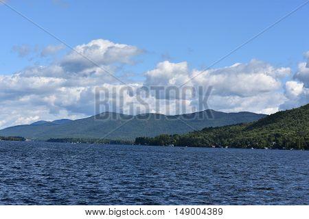 Lake George in Upstate New York, USA