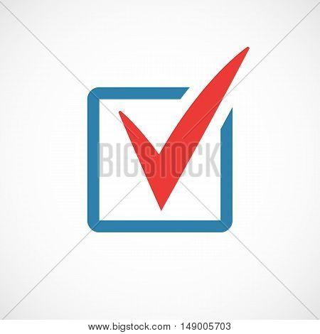 The chek mark icon web design. Vector illustration.