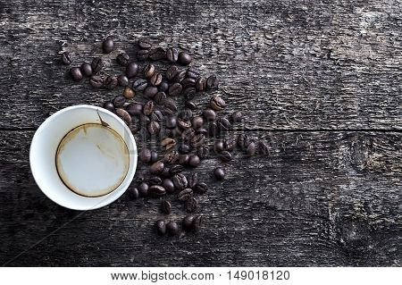 Paper Coffee Cup With Coffee Beans