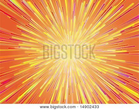 Central bursting explosion of dynamic lines of light poster