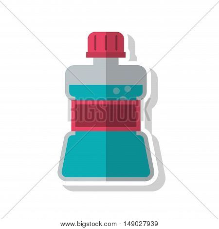 Mouthwash icon. Dental medical and health care theme. Isolated design. Vector illustration