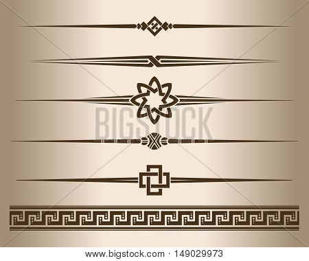 Decorative lines. Design elements - decorative line dividers and ornament. Vector illustration.