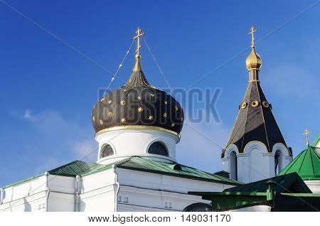 Cupola of Orthodox church of St. Mary Magdalene in Minsk Belarus
