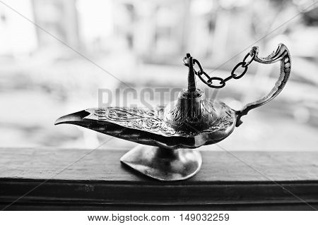 Aladdin Oil Lamp East Design With Egypt Texture
