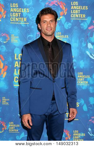 LOS ANGELES - SEP 24:  Eric Leonardos at the Los Angeles LGBT Center 47th Anniversary Gala Vanguard Awards at the Pacific Design Center on September 24, 2016 in West Hollywood, CA