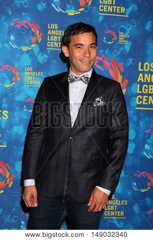 LOS ANGELES - SEP 24:  Conrad Ricamora at the Los Angeles LGBT Center 47th Anniversary Gala Vanguard Awards at the Pacific Design Center on September 24, 2016 in West Hollywood, CA