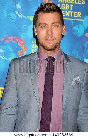 LOS ANGELES - SEP 24:  Lance Bass at the Los Angeles LGBT Center 47th Anniversary Gala Vanguard Awards at the Pacific Design Center on September 24, 2016 in West Hollywood, CA