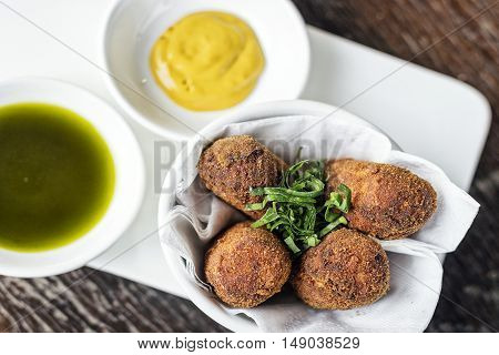 spanish portuguese traditional beef pork fried croquette croquetes snack tapas food