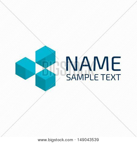 Abstract logo design template. Geometric symbol. Universal vector design element. Emblem for the organisation or group of companies.
