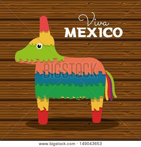 donkey pinata mexican carnival design vector illustration eps 10