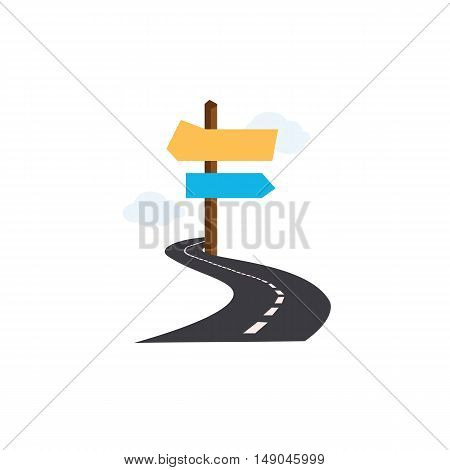 Road and road sign of vector EPS 10