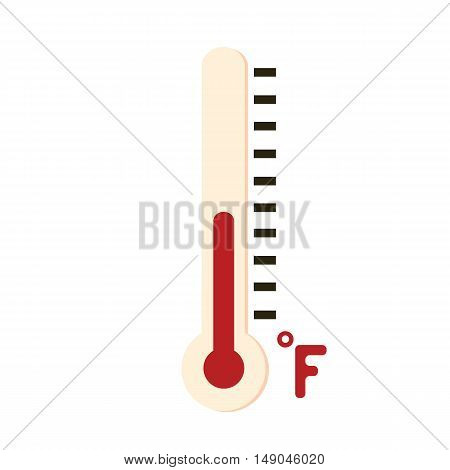 vector thermostat or temperature with measuring hot