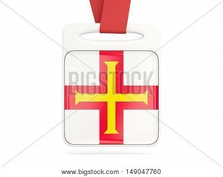 Flag Of Guernsey, Square Card